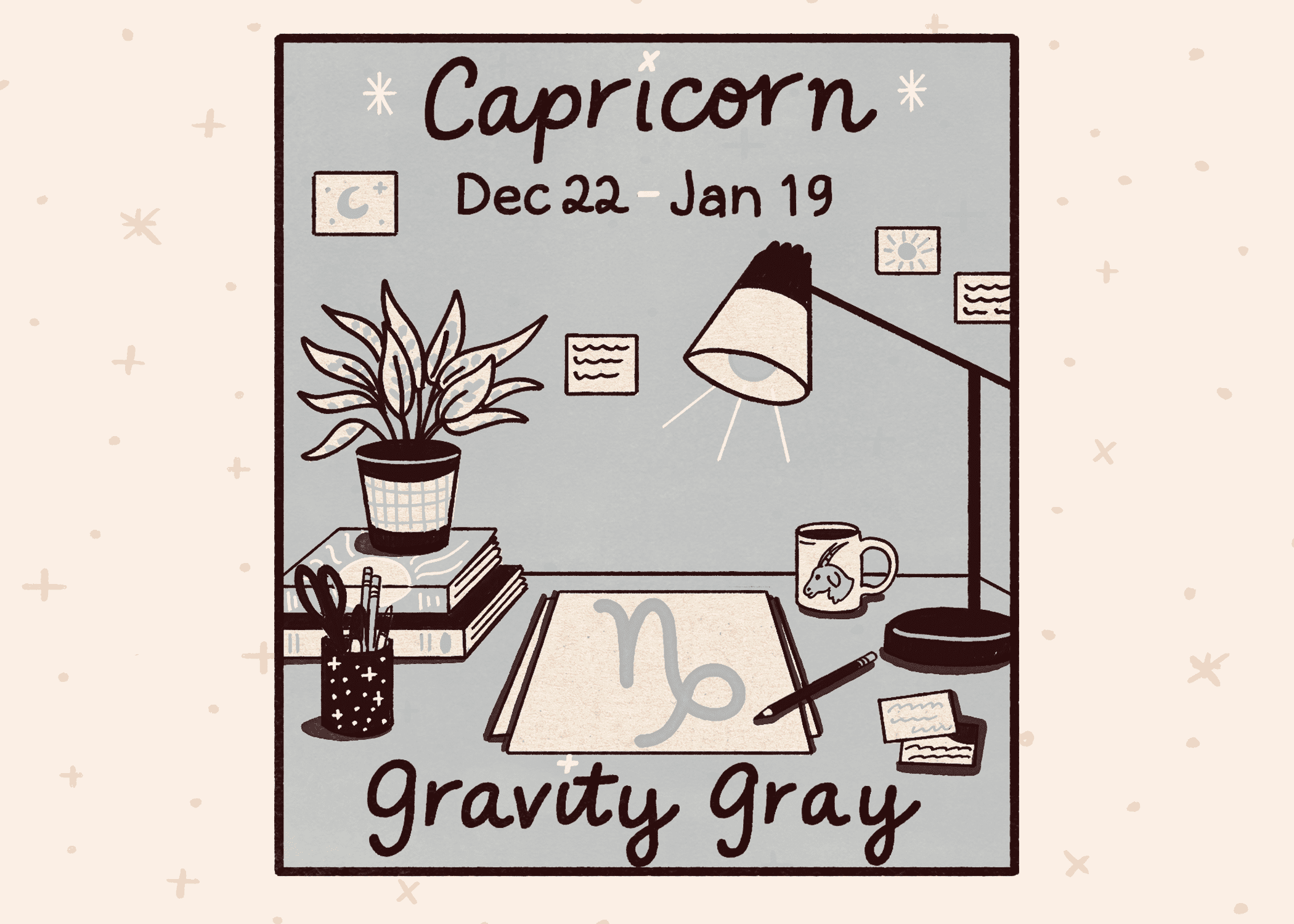 Best paint color for capricorn: gravity gray