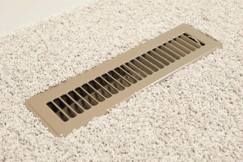House HVAC Floor Vent Register