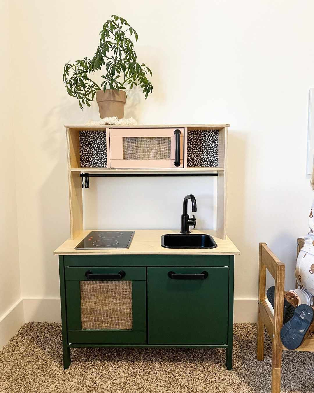 Sage green playhouse