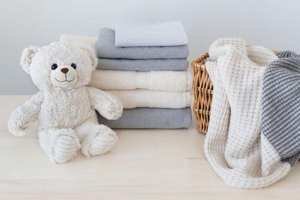 Clean Laundry With Teddy Bear