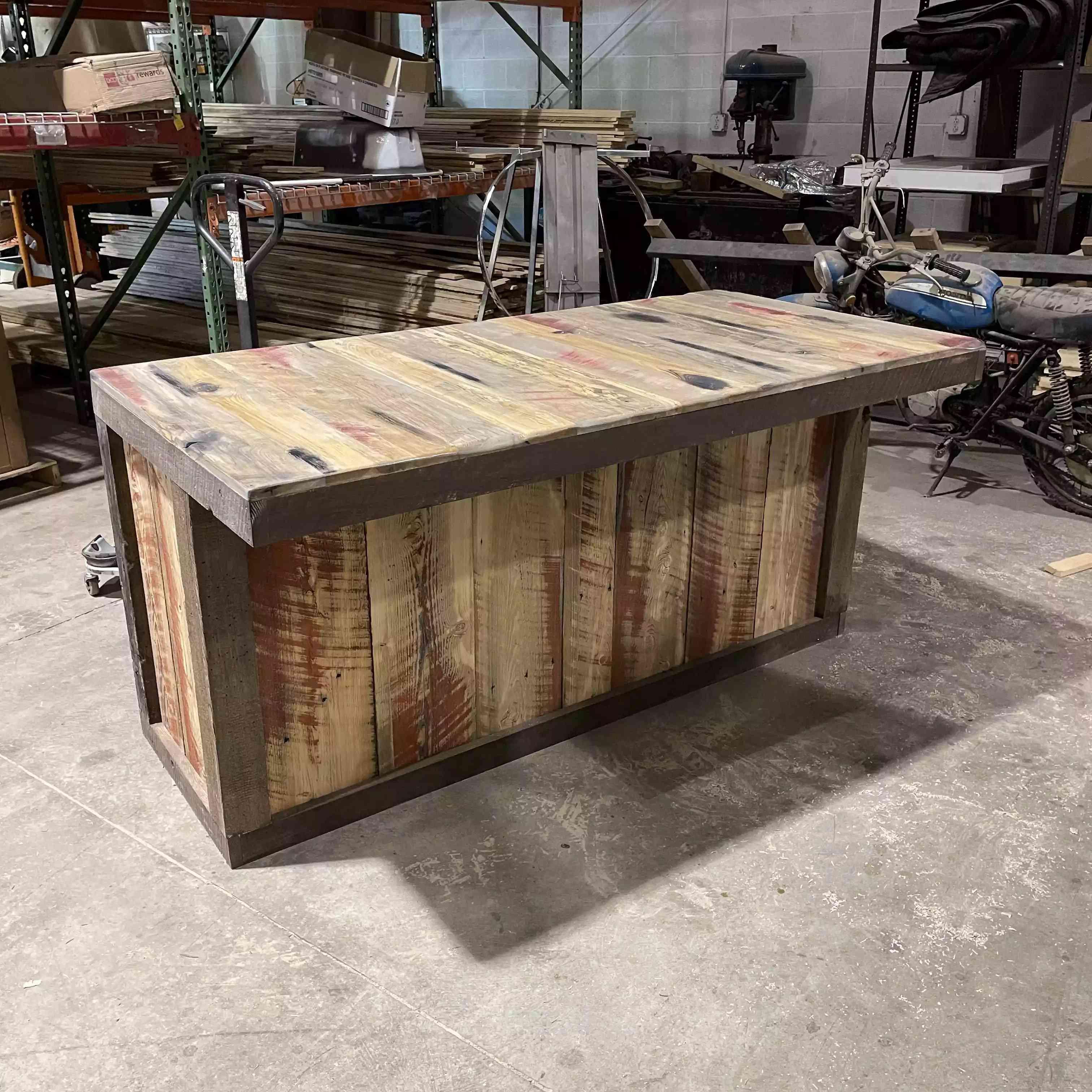 kitchen island pallet wood