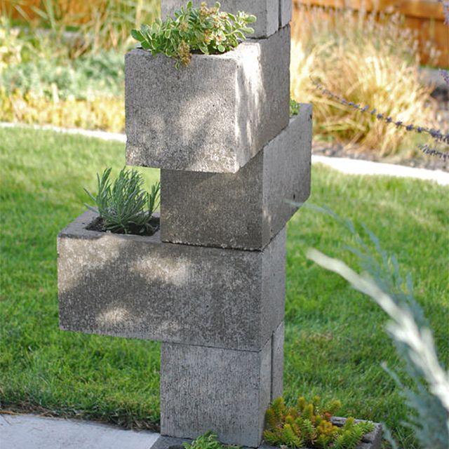 A concrete planter