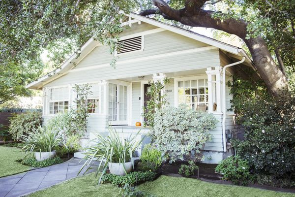 White Painted House Exterior 483598945