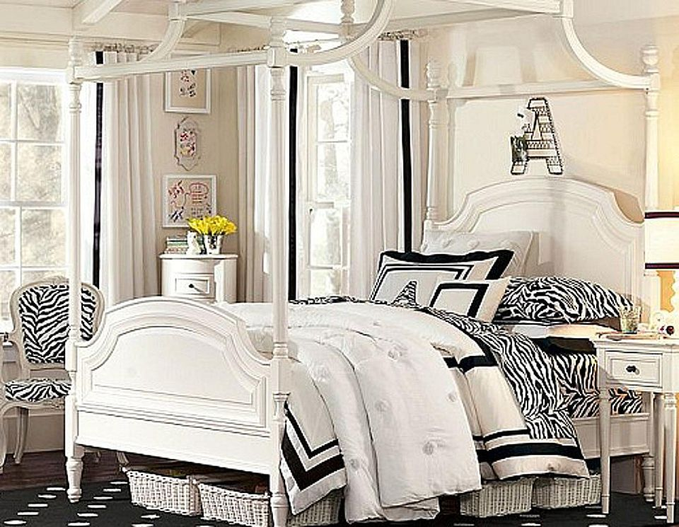 Add a touch of zebra print to your bedroom.
