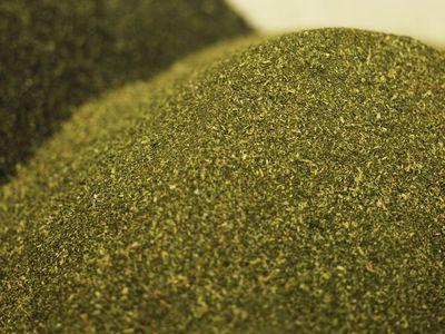 Closeup of a pile of greensand
