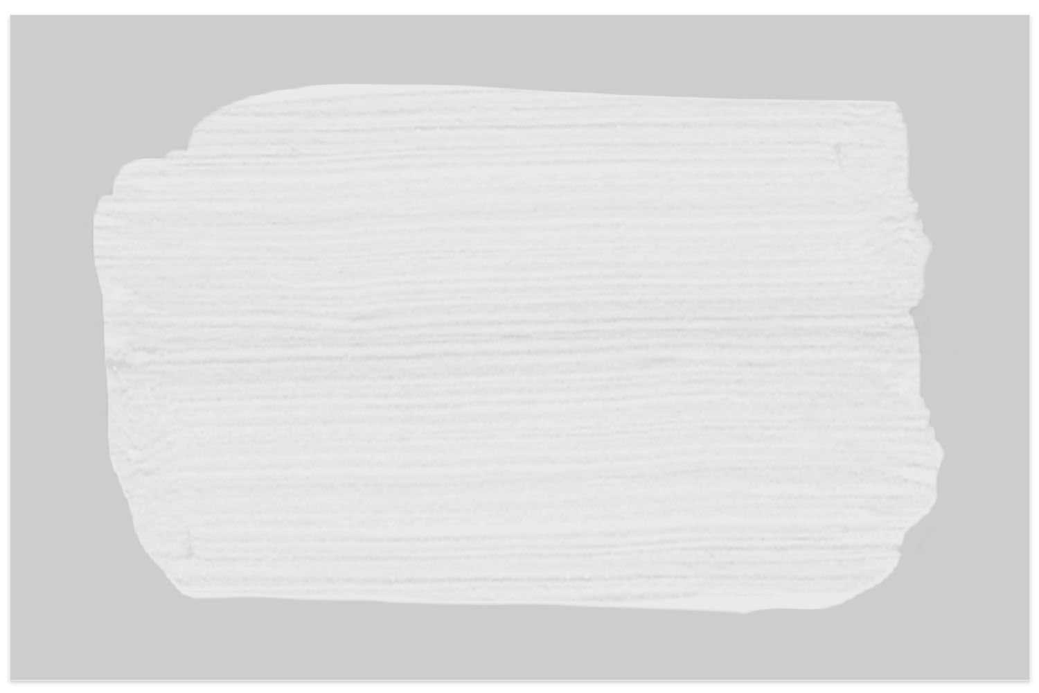 Rust-Oleum Linen White chalky paint swatch