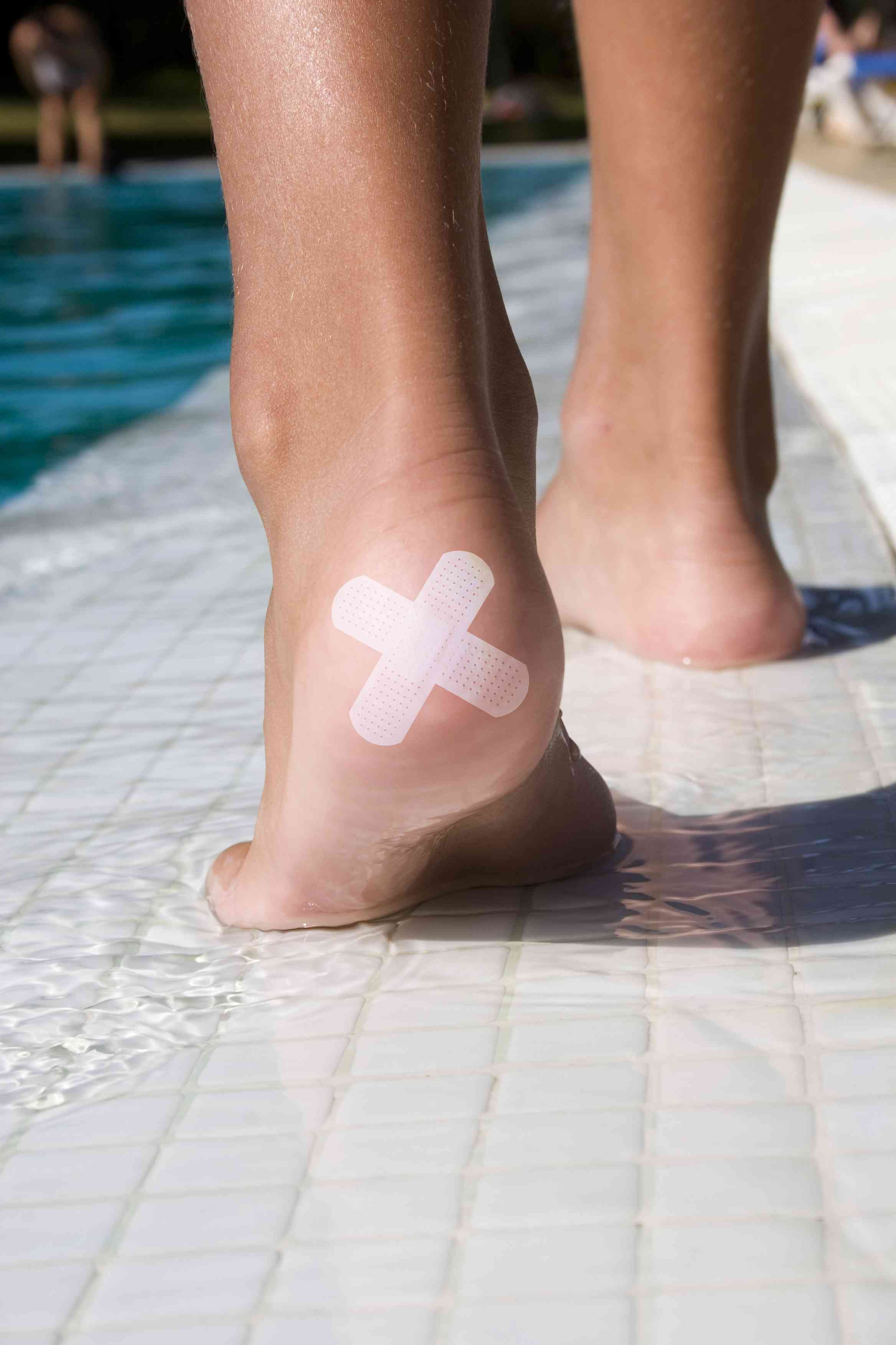 a bandage on the heel of the foot