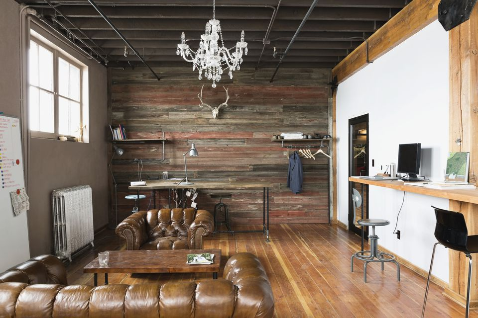 A room in industrial chic style