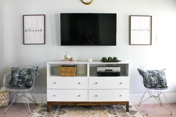 DIY Ikea Hack TV dresser