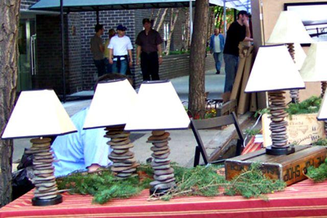 Lámparas de roca apiladas de Philip Eberheim