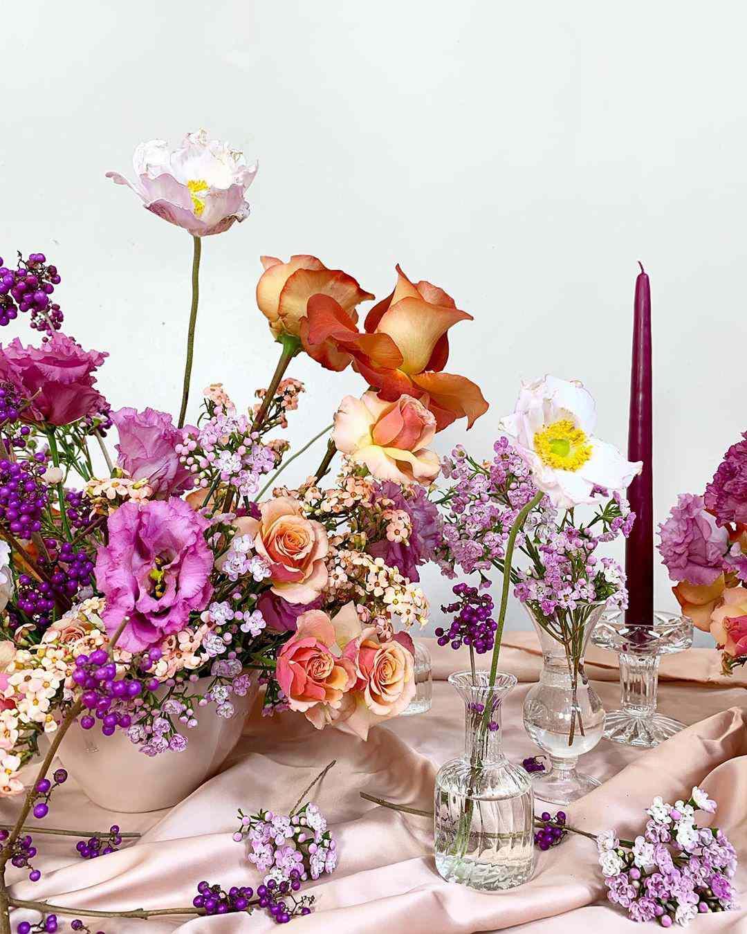 beautiful warm-toned flowers