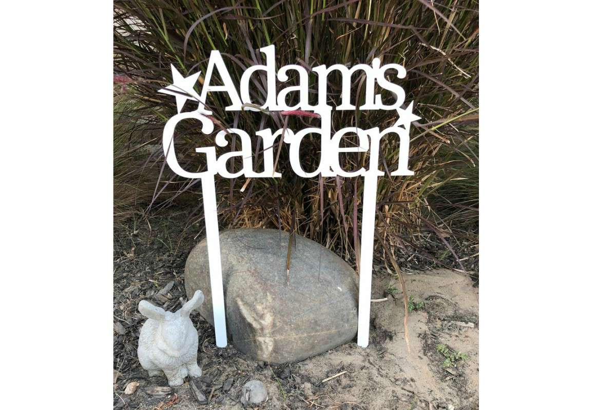 MyMetalWorks Personalized Garden Sign