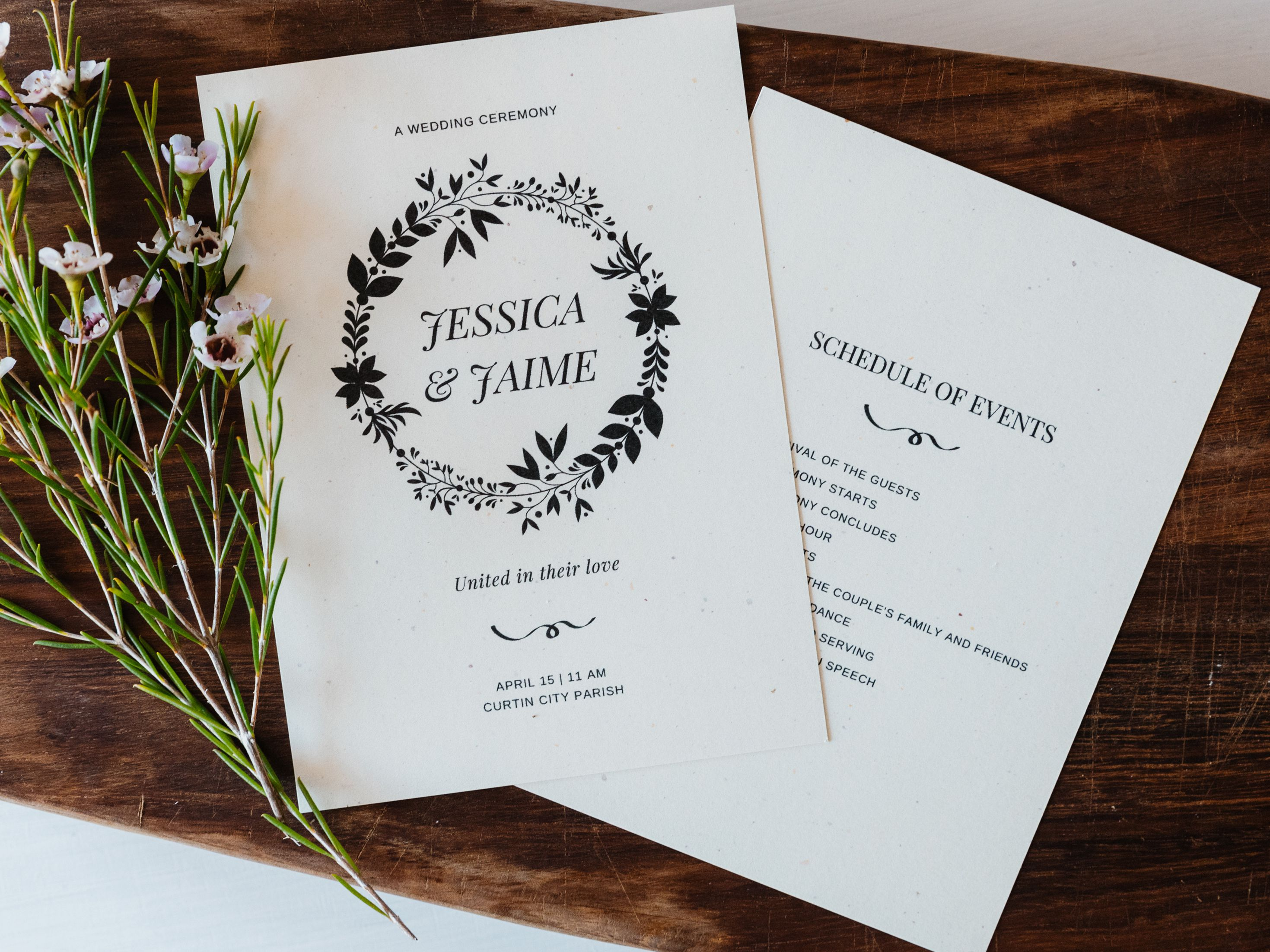 Word Wedding Program Template from www.thespruce.com