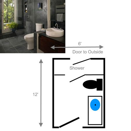 Small Bathroom Layout Separate Entrance