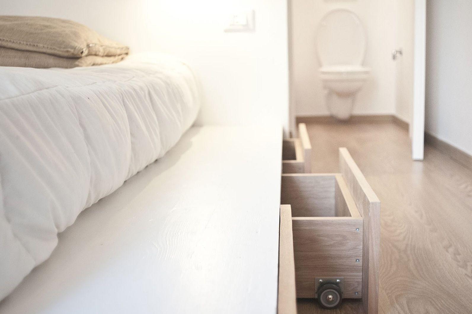 cajones de almacenamiento con ruedas para cama