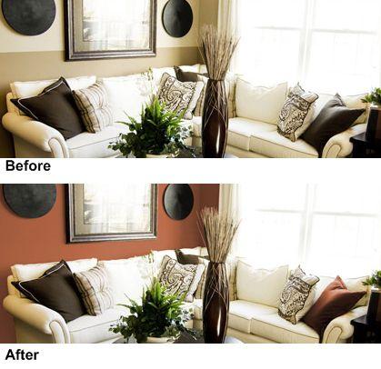 Sala de estar antes y después