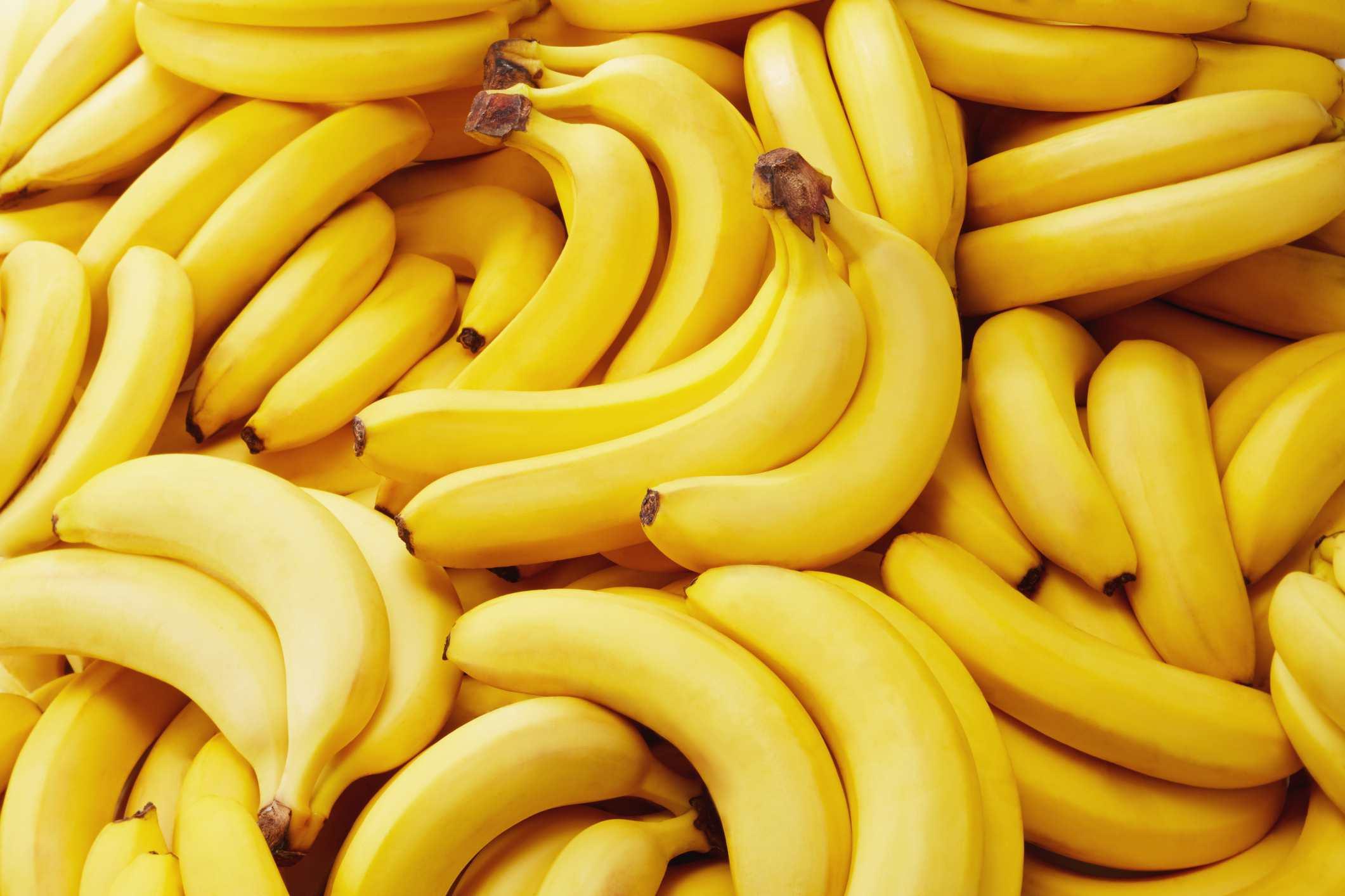 A close-up of bananas