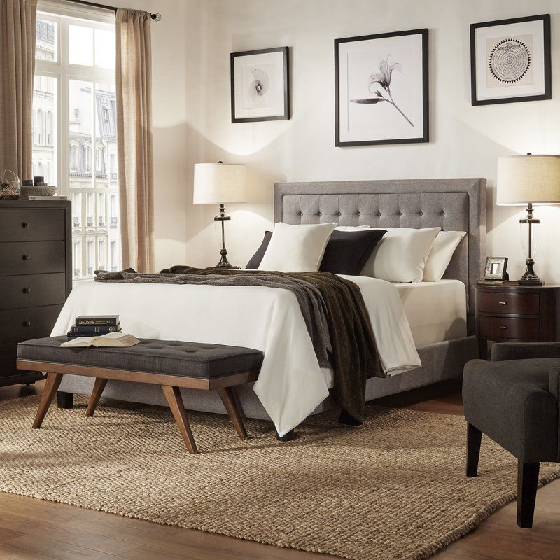 Best Upholstered Three Posts Woodside Panel Bed