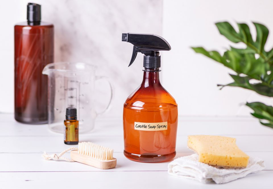 homemade castile soap spray