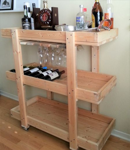 Magnificent 10 Diy Wood Bar Carts Download Free Architecture Designs Photstoregrimeyleaguecom