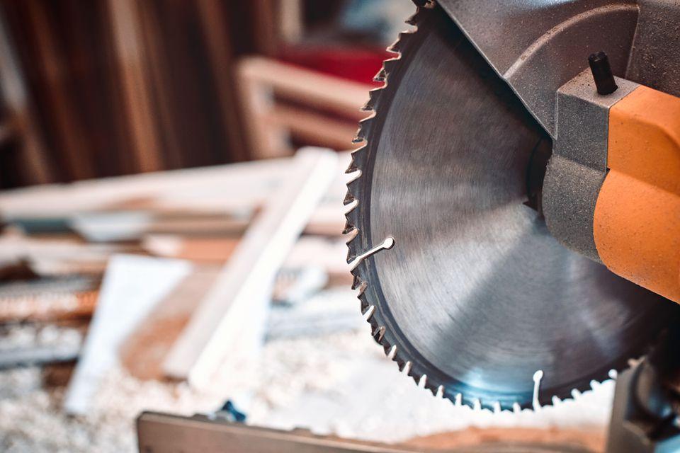 Closeup of a circular saw