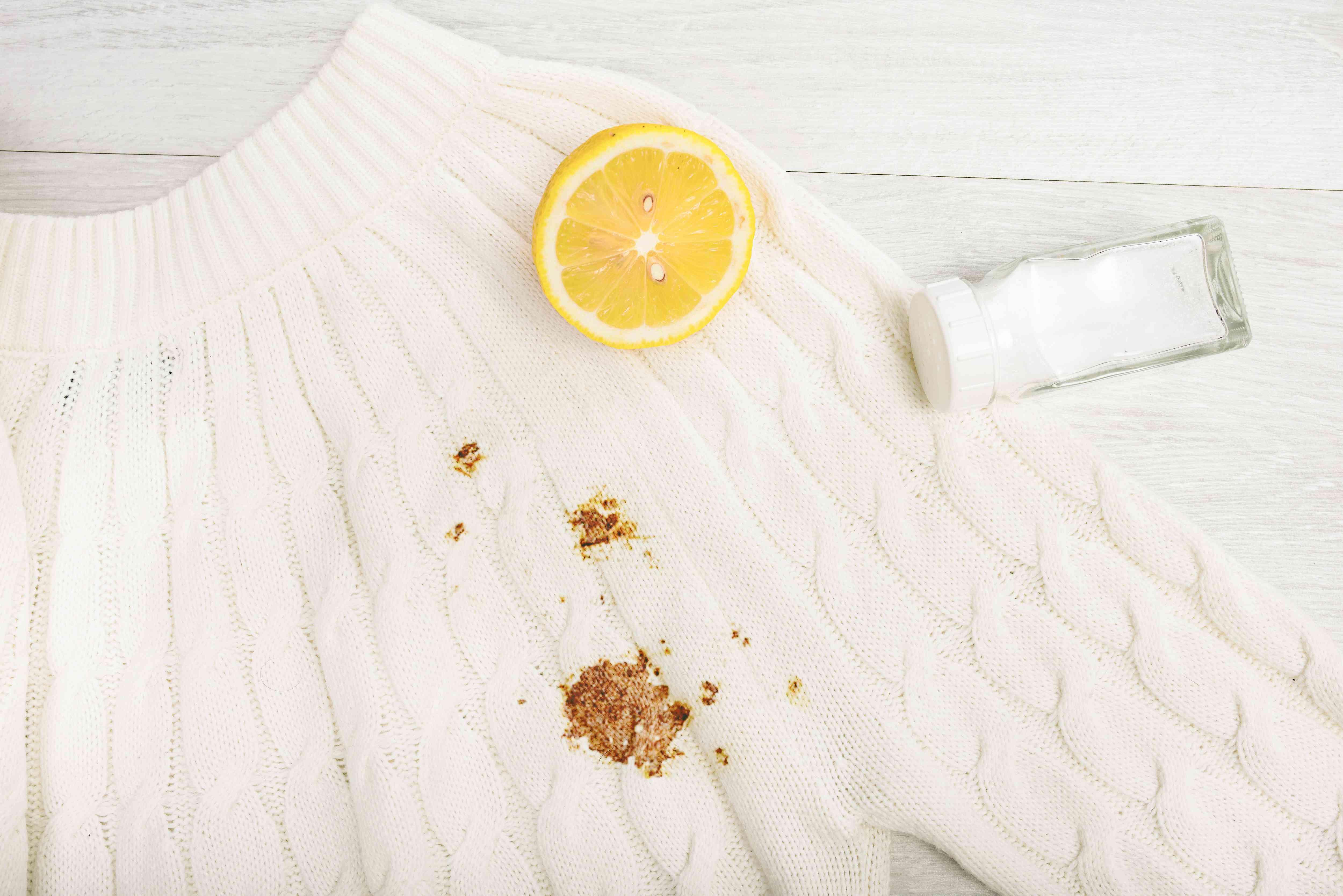 salt and lemon juice