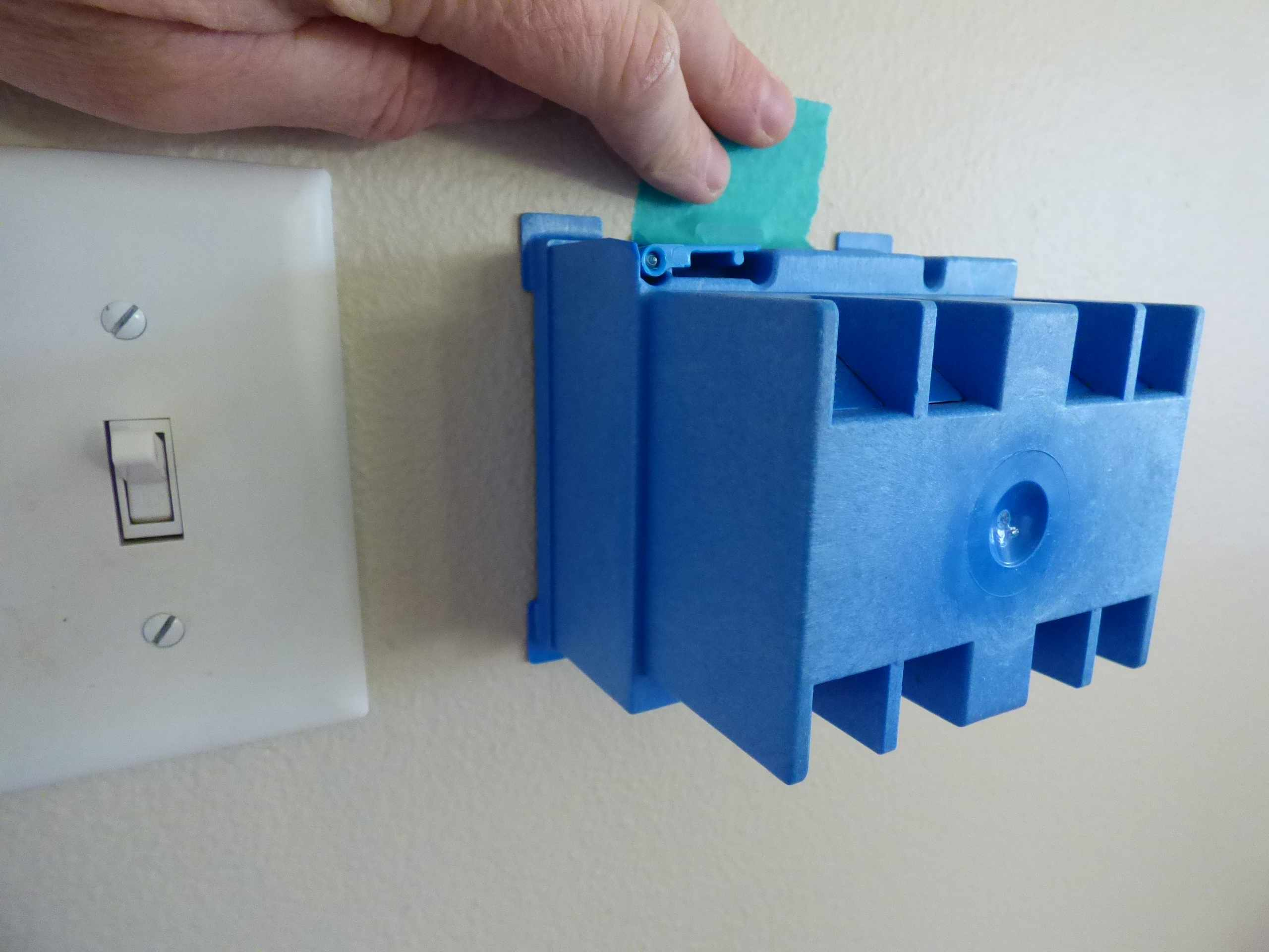 Tape Box to Wall