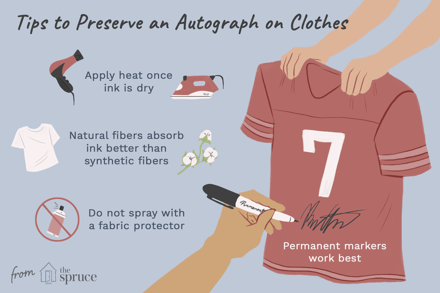 How to Preserve an Autograph on Shirt or Hat