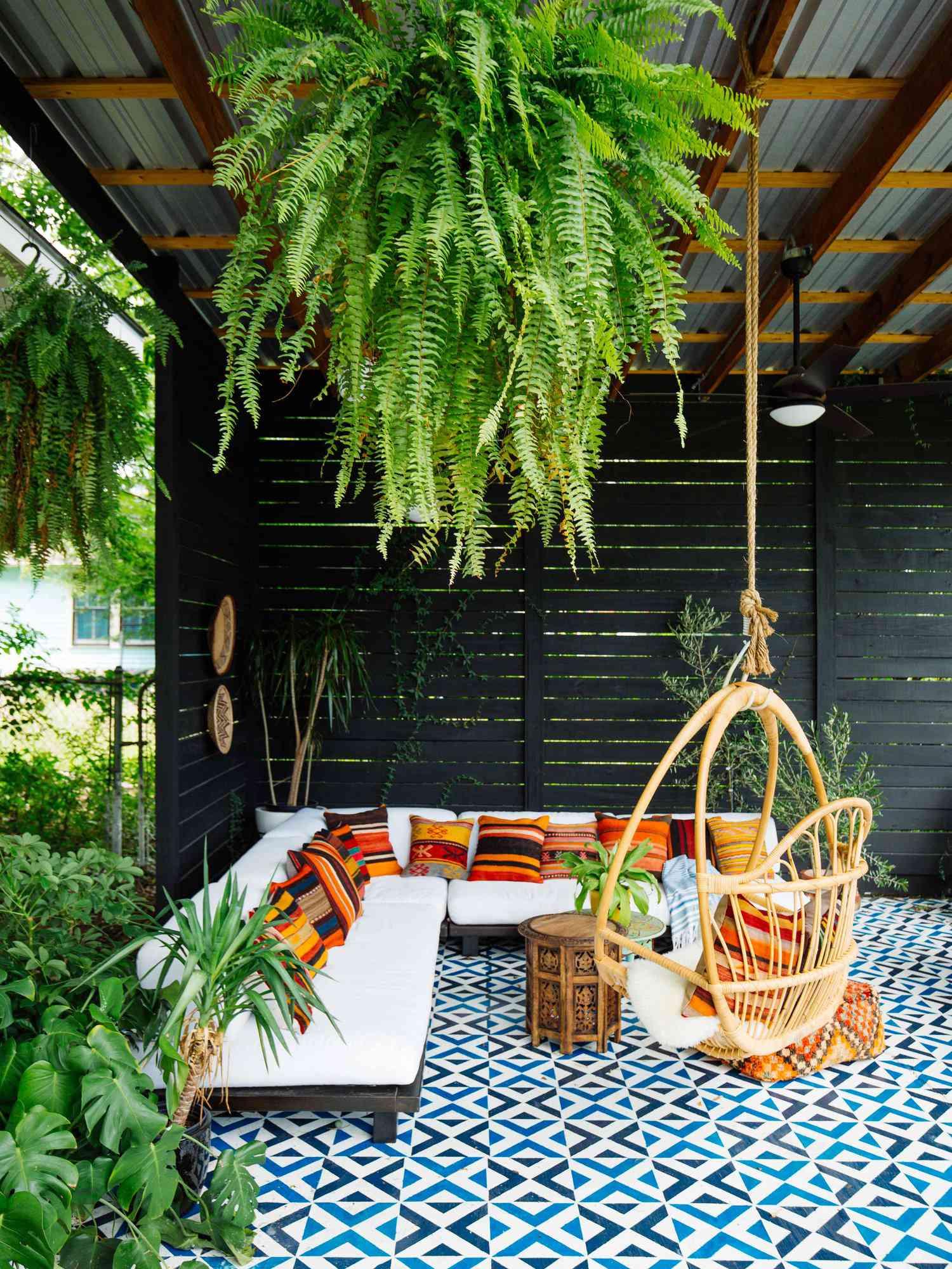 Moroccan inspired outdoor living room