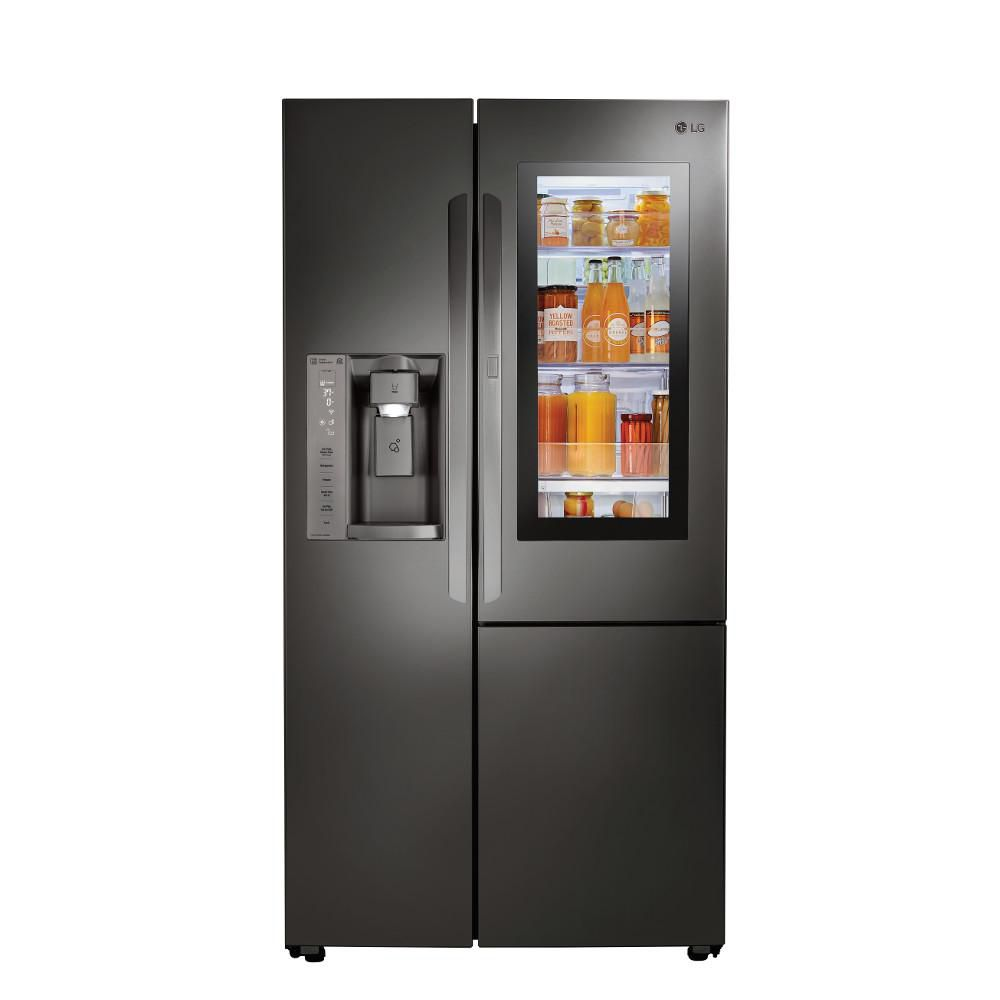LG Electronics 21.7 cu. ft. Slide-in Side-by-Side Smart Refrigerator with Wi-Fi Enabled