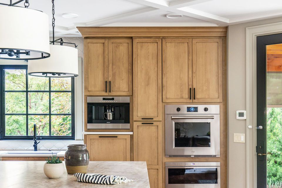 cabinets in traditional kitchen