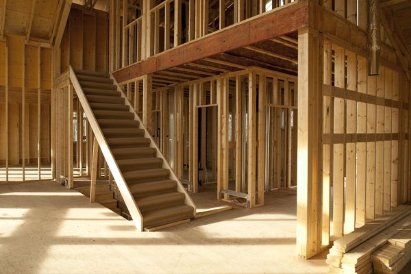 Home construction staircase