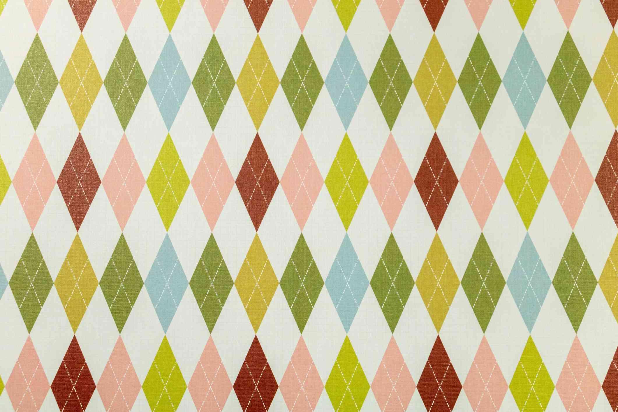 Harlequin print fabric