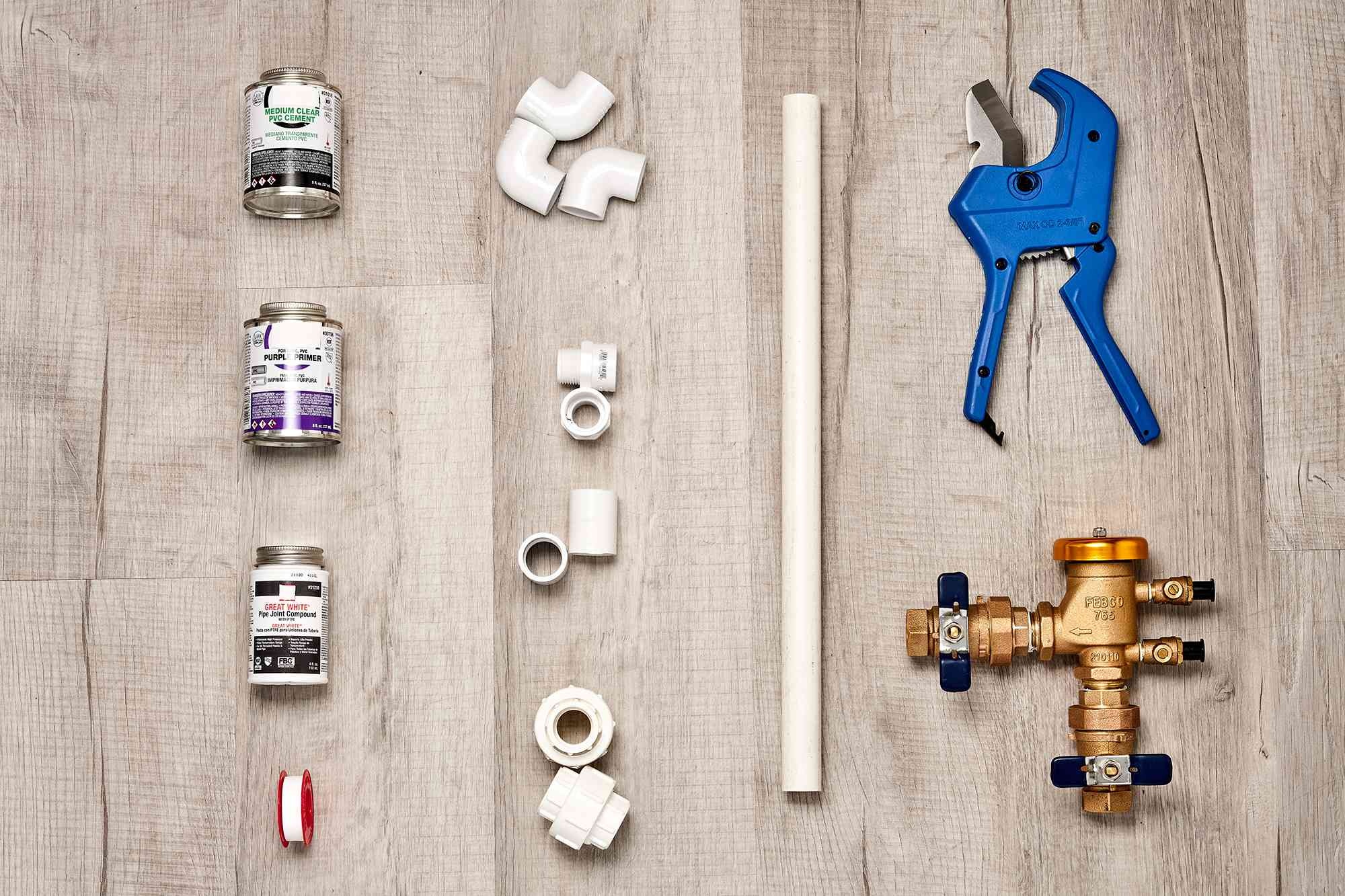 Materials and tools to replace an irrigation system's pressure-vacuum breaker