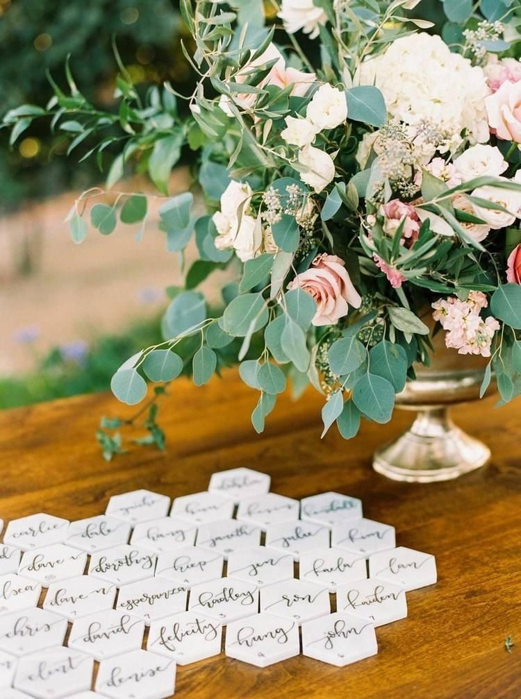 15 ideas for wedding escort card displays - Wedding Escort Cards