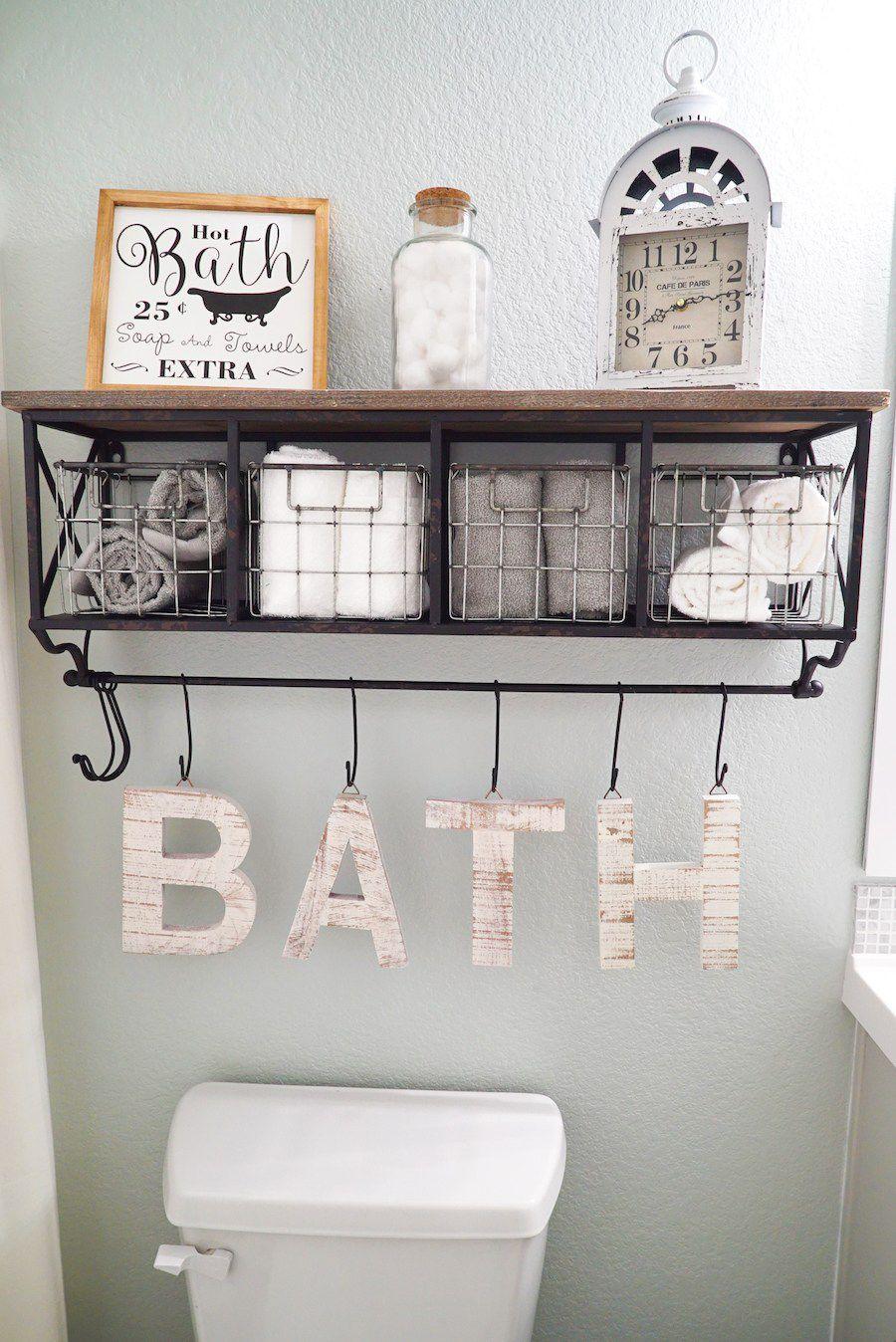 15 Bathroom Shelf Ideas For an Organized Home