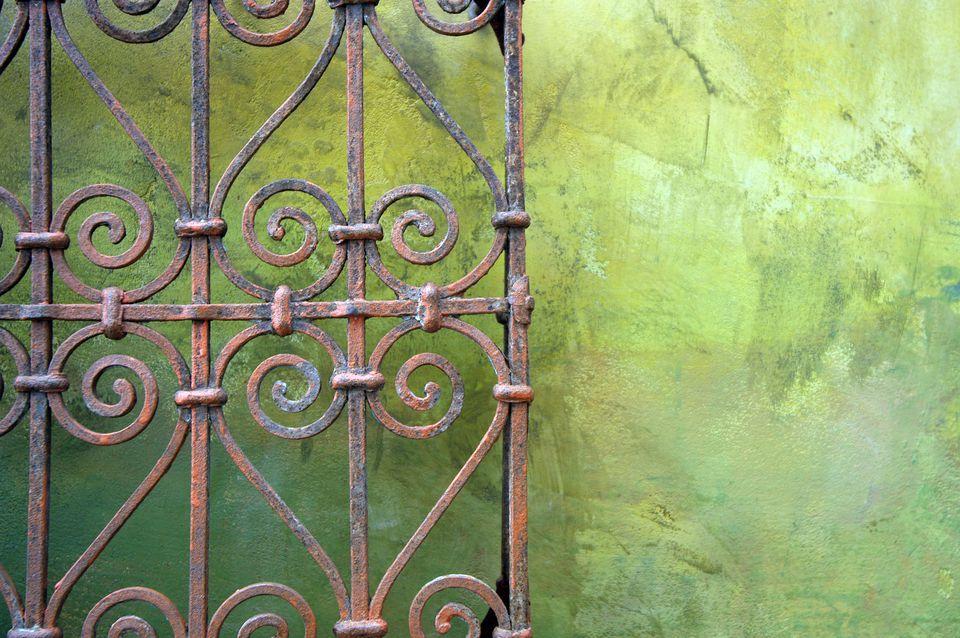 Rusted Metal Gate