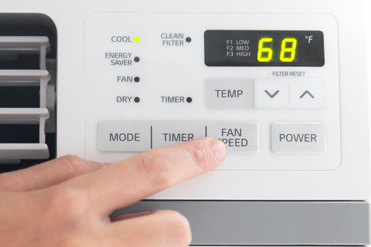 person changing fan options