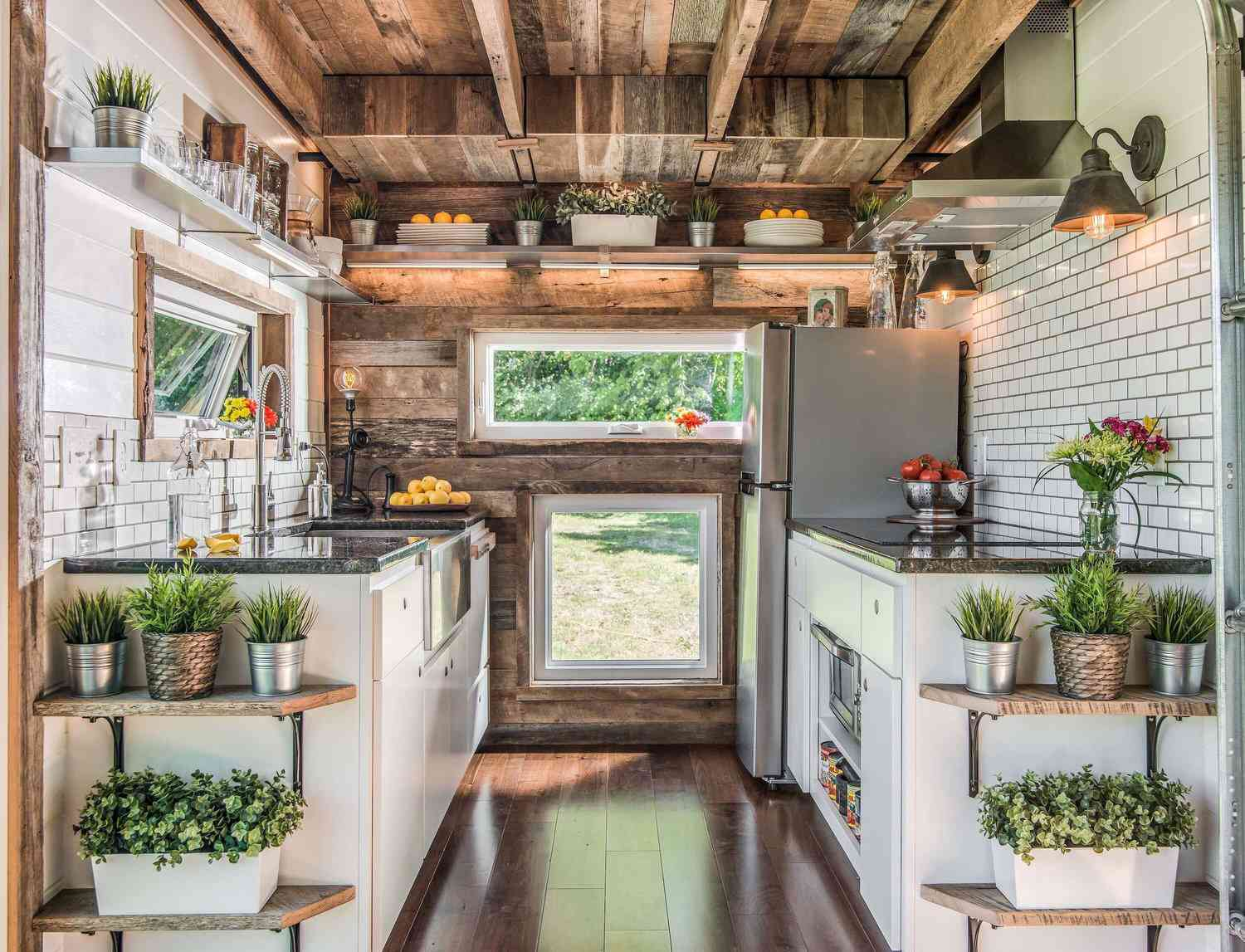 Tiny kitchen with full-sized appliances