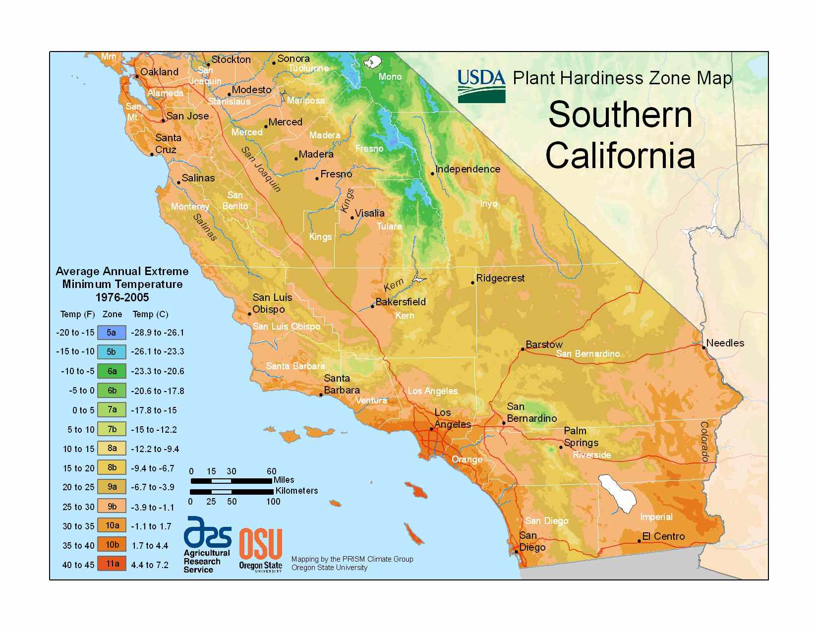 Photo of the Southern California Hardiness Zones