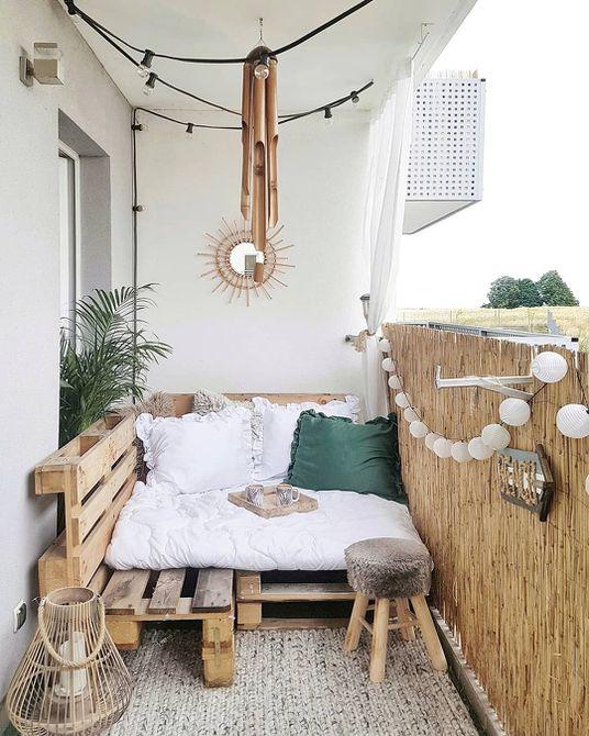 pequeño y elegante balcón de apartamentos pequeños