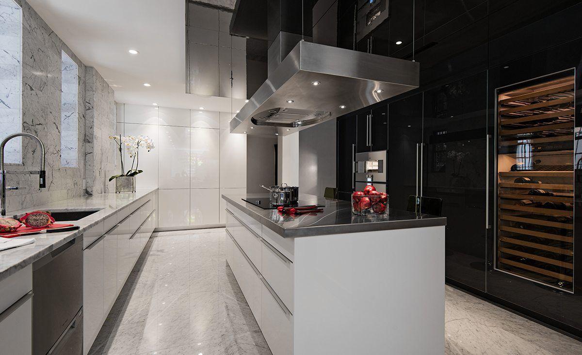 cocina elegante minimalista de alta gama