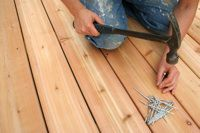 nails and putting in new deck