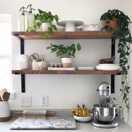 10 Beautiful Open Kitchen Shelving Ideas on under cabinet organization kitchen, under cabinet drawers kitchen, under cabinet lighting kitchen, under cabinet corbels kitchen,