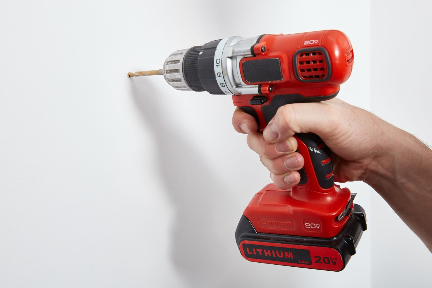 Drill wall hole with power drill