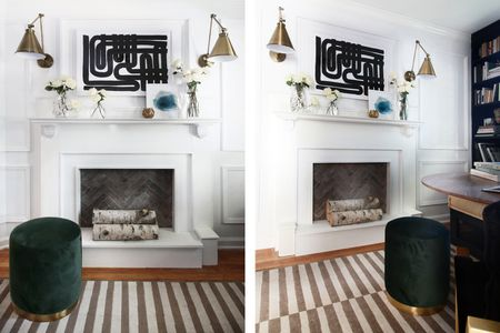 Herringbone Tile Scandi Fireplace
