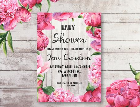 Free baby shower printables to save you money a pink floral baby shower invitation filmwisefo