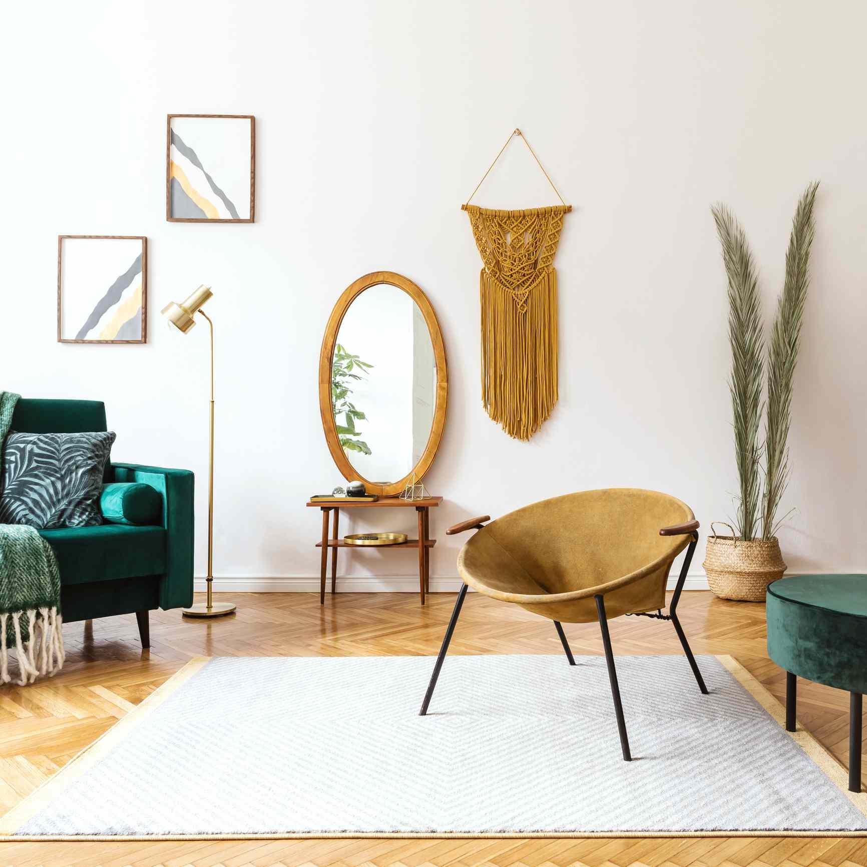 A boho chic living room