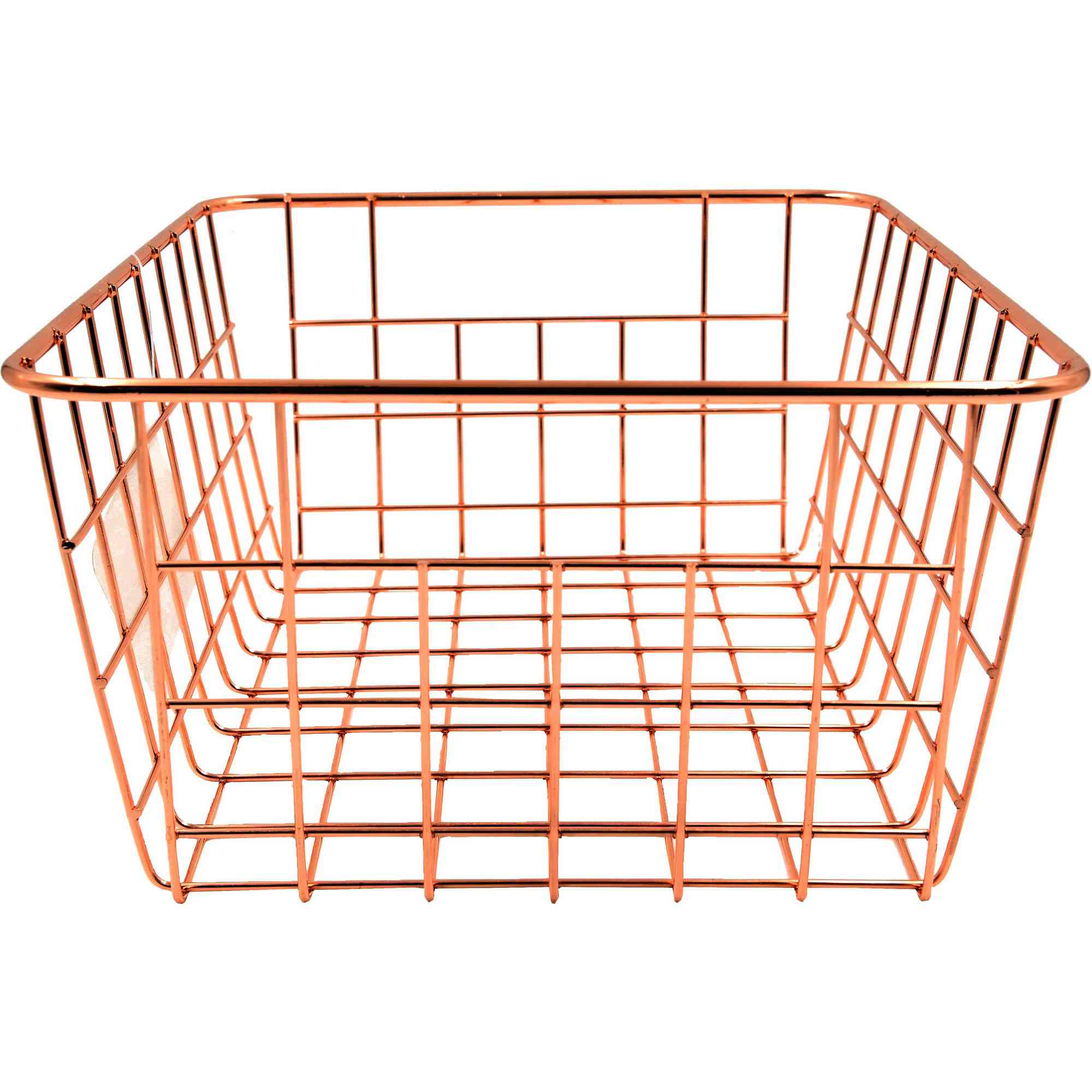 The Mainstays Carbon Steel and Rose Gold Classic Wire Basket