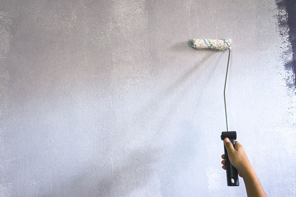 Rollling Paint Primer on a Wall